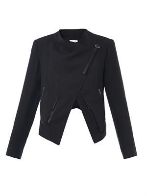 Sugar wrap-front crepe jacket