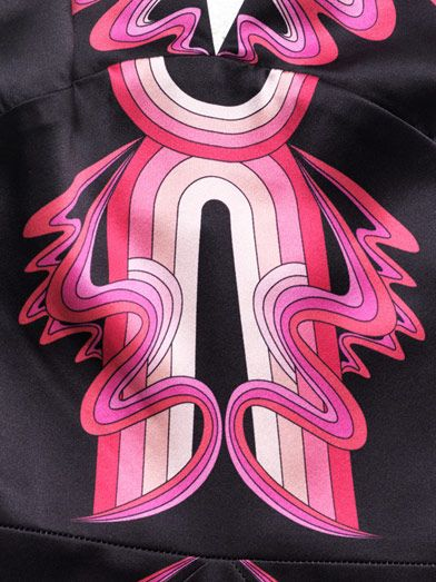 Holly Fulton Raspberry ripple halter neck dress