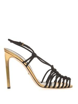 Angelique suede and leather sandals