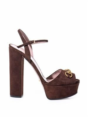Claudine suede horsebit sandals