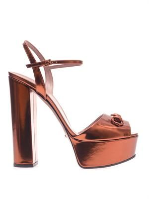 Claudine metallic leather sandals