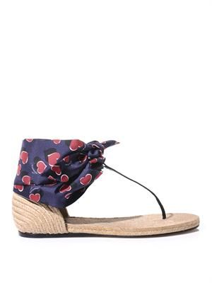 Carolina raffia & silk sandals