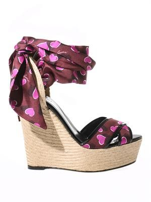 Carolina raffia & silk wedge sandals