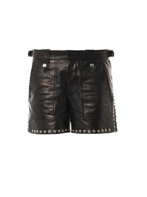 Brodie leather shorts