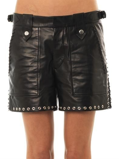 Isabel Marant Brodie leather shorts