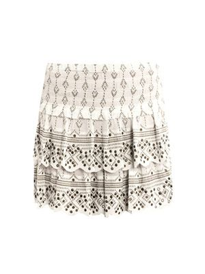 Andora studded layered skirt