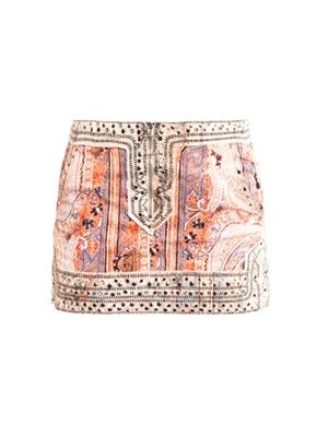 Jinny paisley studded mini skirt