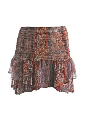Paisley print mini-skirt