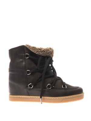 Nowles leather wedge snow boots