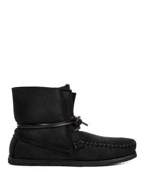 Eve suede moccasin ankle boots
