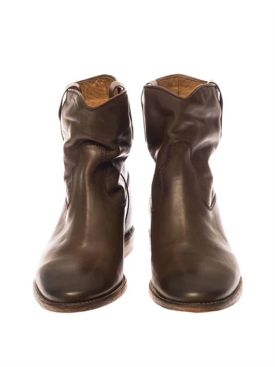 cluster leather ankle boots isabel marant matchesfashion com us. Black Bedroom Furniture Sets. Home Design Ideas