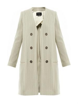 Emi collarless coat