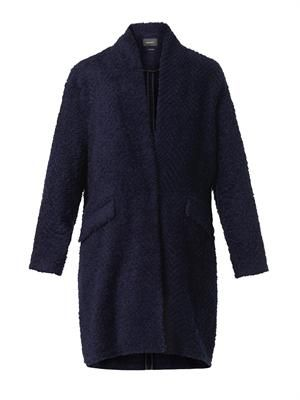 Gabriel herringbone-textured coat