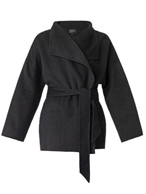 Heaton double-faced blanket coat