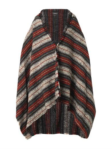 Isabel Marant Idoa striped blanket coat