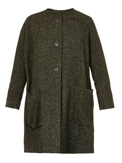 Isabel Marant Ega soft-tweed collarless coat
