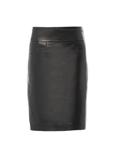 Isabel Marant Bettya leather pencil skirt