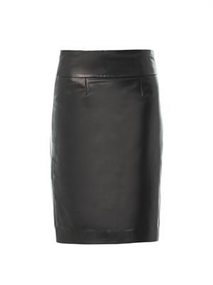 Bettya leather pencil skirt