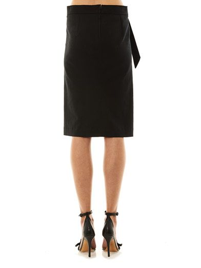 Isabel Marant Loella bow-front pencil skirt