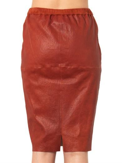 Isabel Marant Devon leather pencil skirt