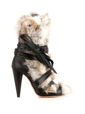 Pietra fur and leather boots