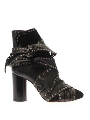 Aubrey leather ankle boots