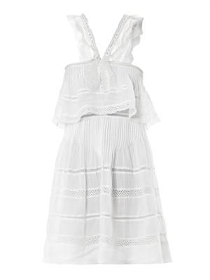 Obira Vintage ruffle ramie dress
