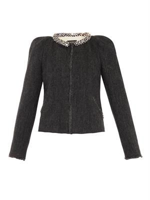 Huntley embellished wool jacket