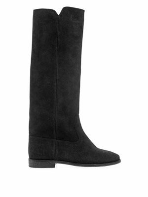Cleave suede wedge boots