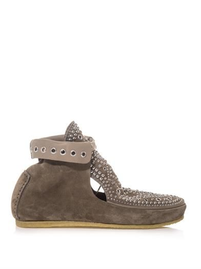 Isabel Marant Morley studded suede ankle boots