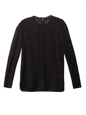 Tess embroidered gauze top