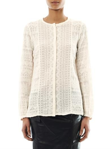 Isabel Marant Tia embroidered blouse