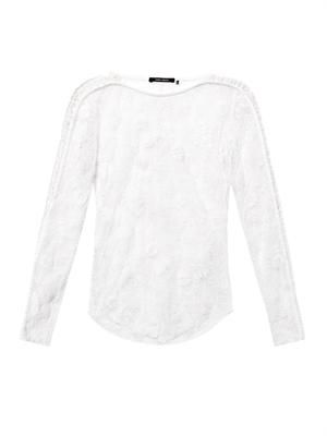 Mora embroidered-lace top
