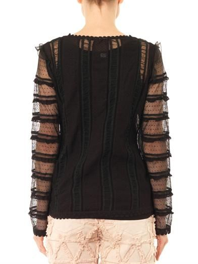 Isabel Marant Plumeti embroidered cotton blouse
