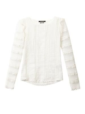 Quena plumeti embroidered cotton blouse