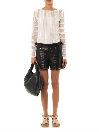 Isabel Marant Quena plumeti embroidered cotton blouse