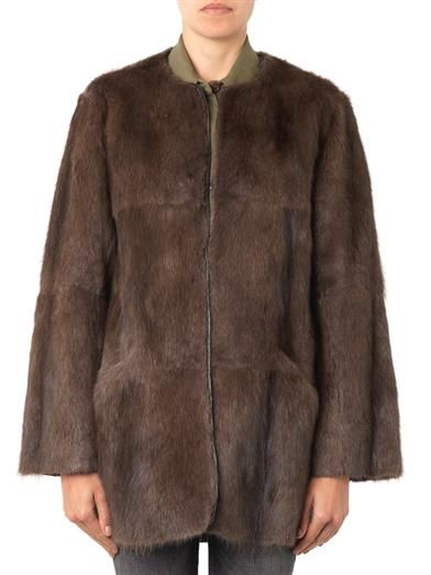 Isabel Marant Adele fur and knitted jacket