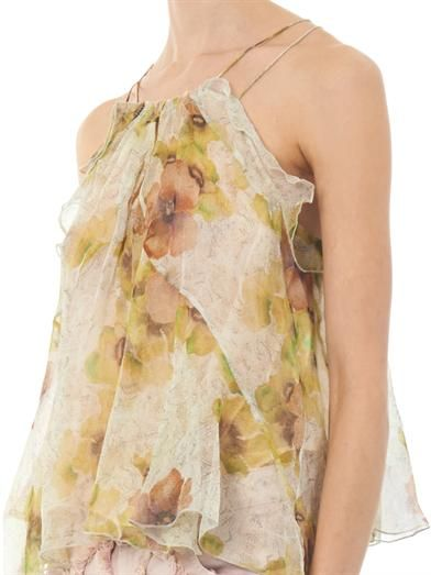 Isabel Marant Riley floral-print silk top