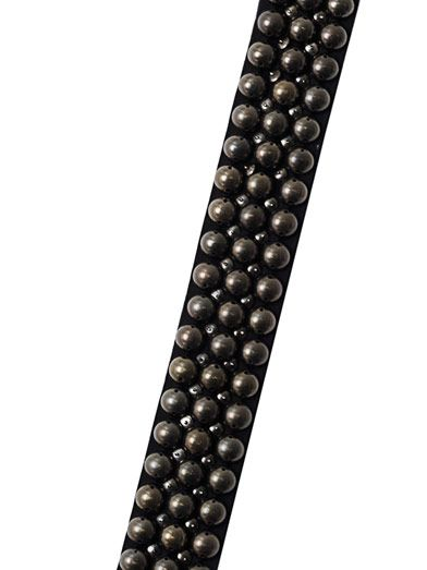 Isabel Marant Reece dome studded skinny scarf