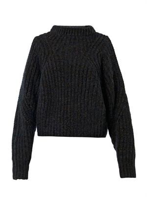 Newt chunky-knit navy sweater