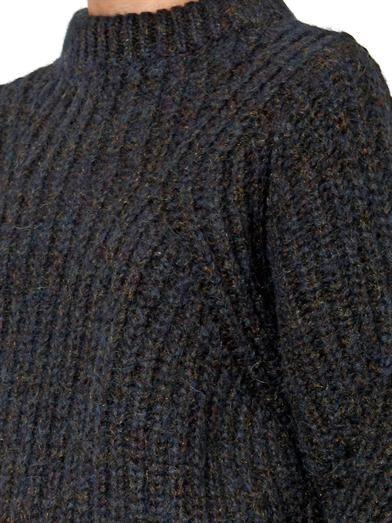 Isabel Marant Newt chunky-knit navy sweater