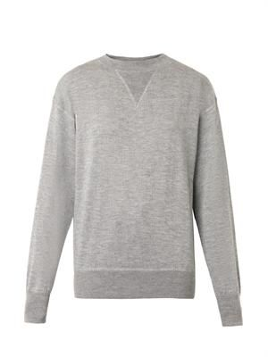 Obli cashmere and silk-blend sweater