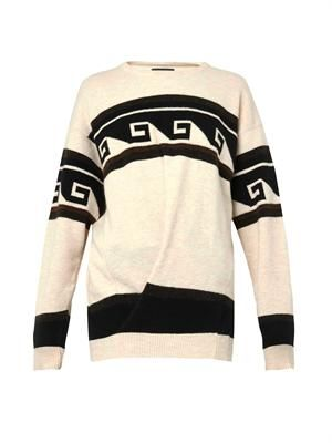 Samuel geometric stripe-knit sweater