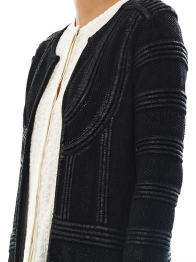 Isabel Marant Kaydee lacquered long cardigan