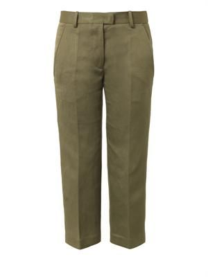 Blake flat-front cropped  trousers