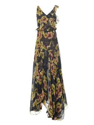 Rabea floral-print silk dress