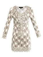 Eloise studded paisley-print dress