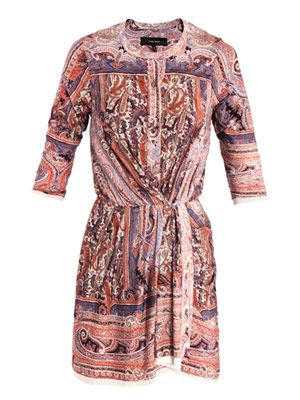 Maryloe mankolam-paisley jersey dress