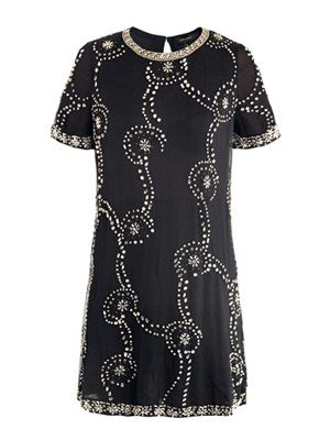 Petula embellished chiffon-silk dress