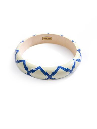 Isabel Marant Zigzag wooden bangle